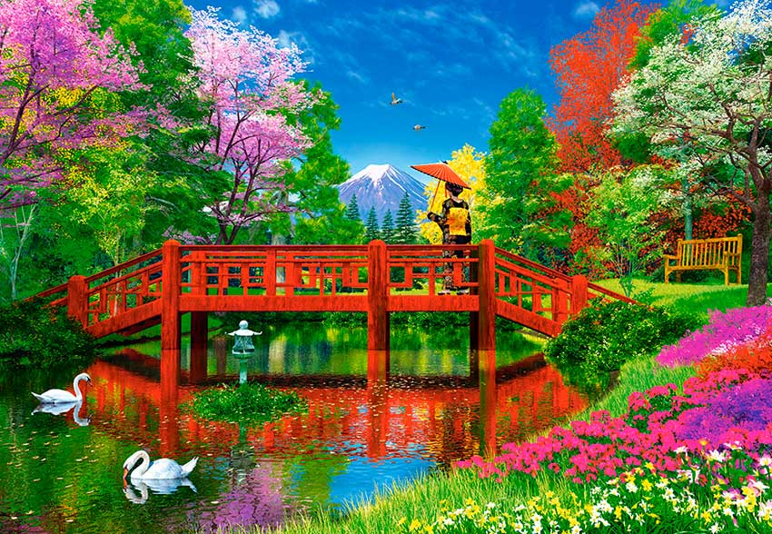 Puzzle Castorland Lago Fuji 1500 Piezas