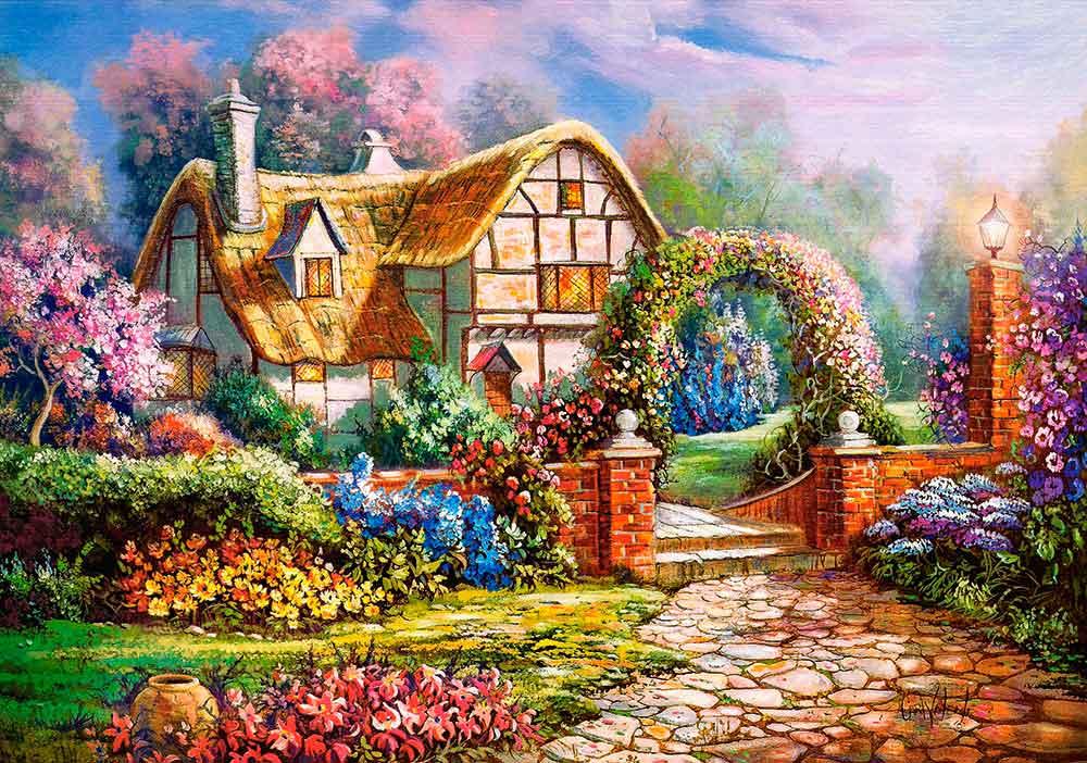 Puzzle Castorland Jardines de Wiltshire de 500 Piezas