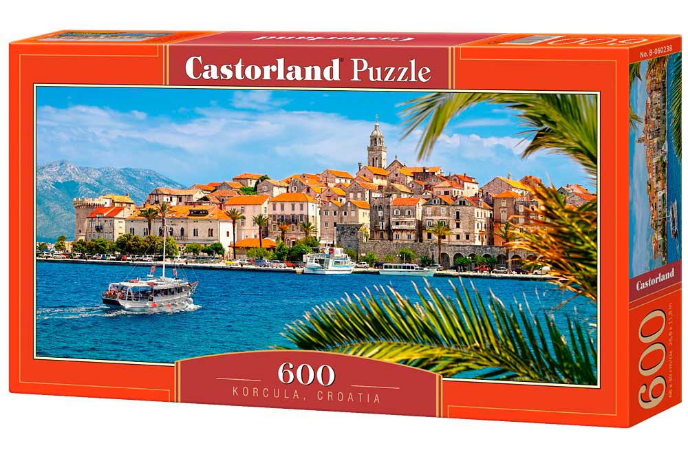 Puzzle Castorland Korcula, Croacia de 600 Piezas