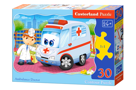 Puzzle Castorland La Ambulancia y El Doctor de 30 Piezas