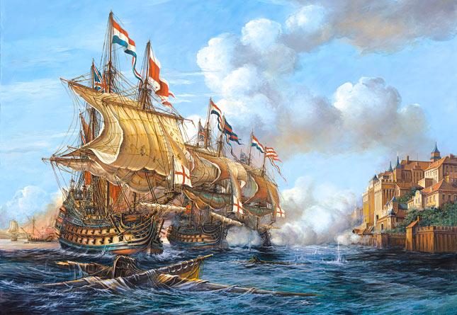 Puzzle Castorland La Batalla de Puerto Bello de 2000 Piezas