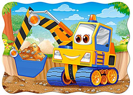 Puzzle Castorland La Excavadora Amarilla de 30 Piezas