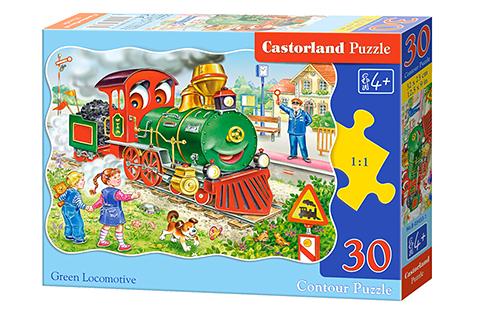 Puzzle Castorland La Locomotora Verde de 30 Piezas