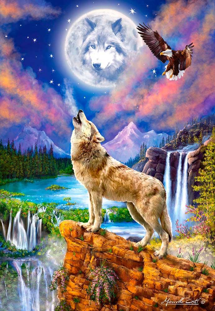 Puzzle Castorland La Noche del Lobo de 1500 Piezas