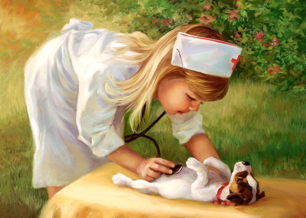 Puzzle Castorland La Pequeña Enfermera de 500 Piezas