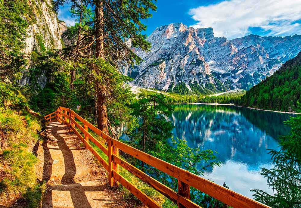 Puzzle Castorland Lago Braies, Italia de 1000 Piezas