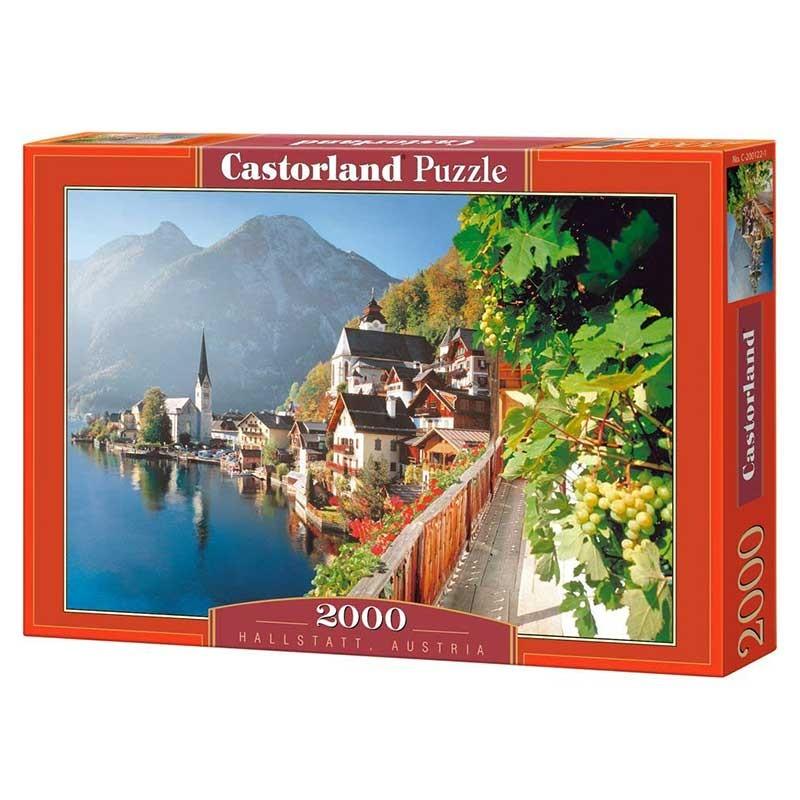 Puzzle Castorland Lago Hallstatt, Austria de 2000 Piezas