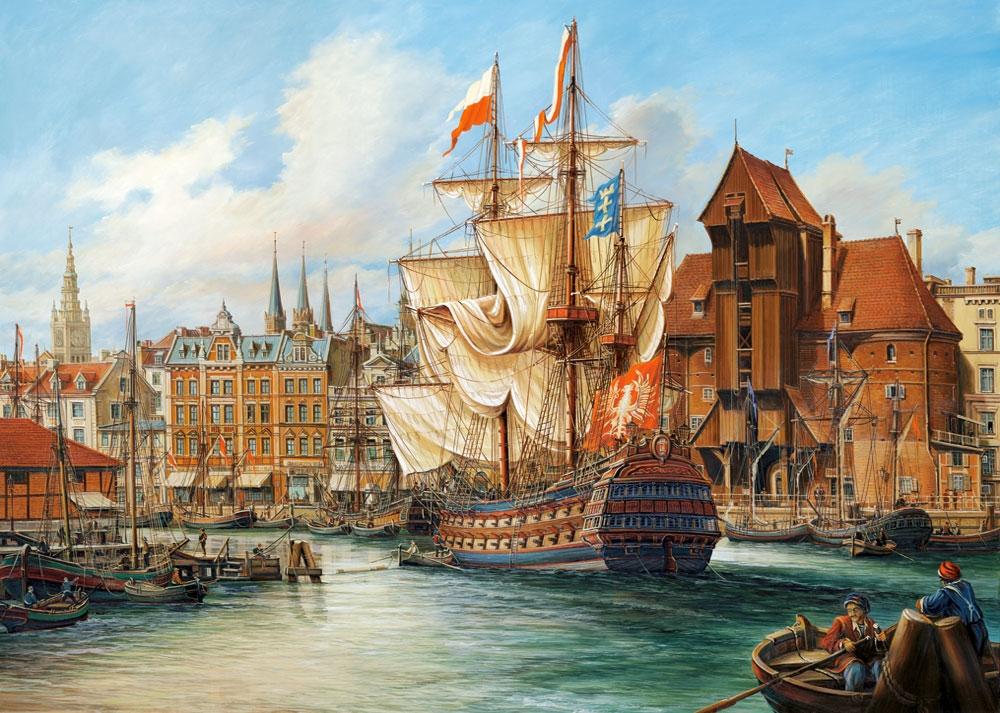 Puzzle Castorland Llegando al Viejo Puerto de 1000 Piezas