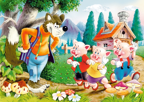 Puzzle Castorland Los Tres Cerditos de 60 Piezas
