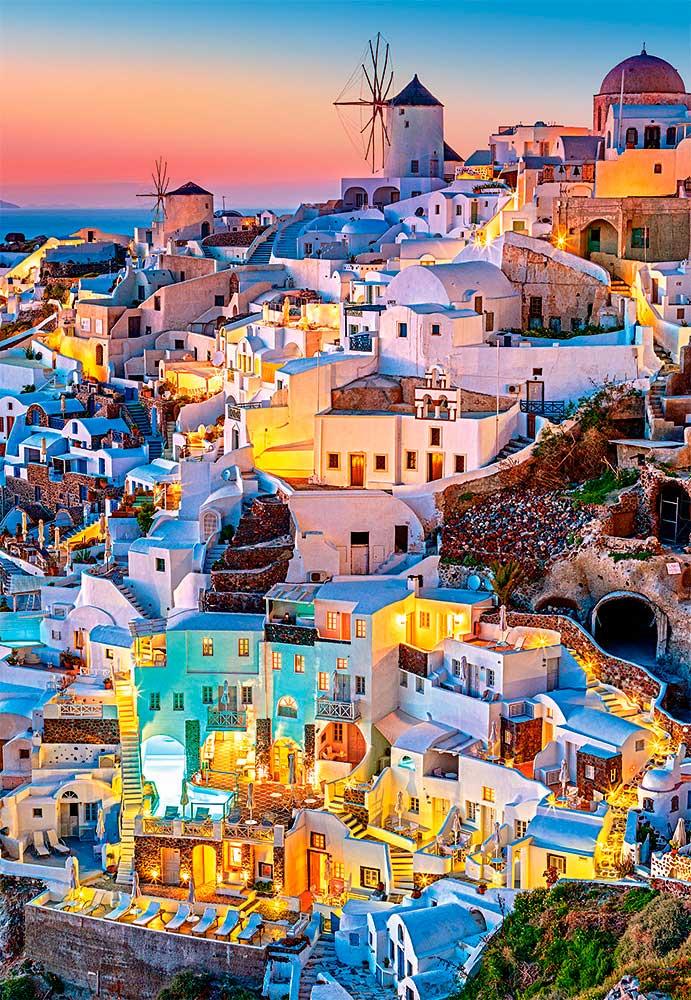 Puzzle Castorland Luces de Santorini de 1000 Piezas