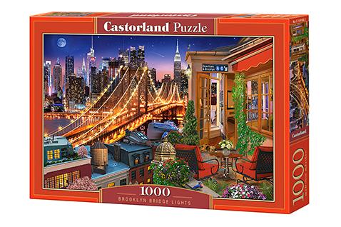 Puzzle Castorland Luces del Puente de Brooklyn de 1000 Piezas