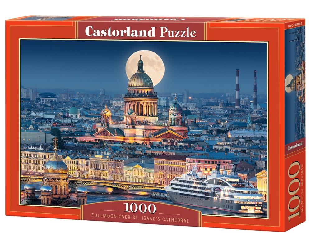 Puzzle Castorland Luna Llena sobre la Catedral de St. Isaac