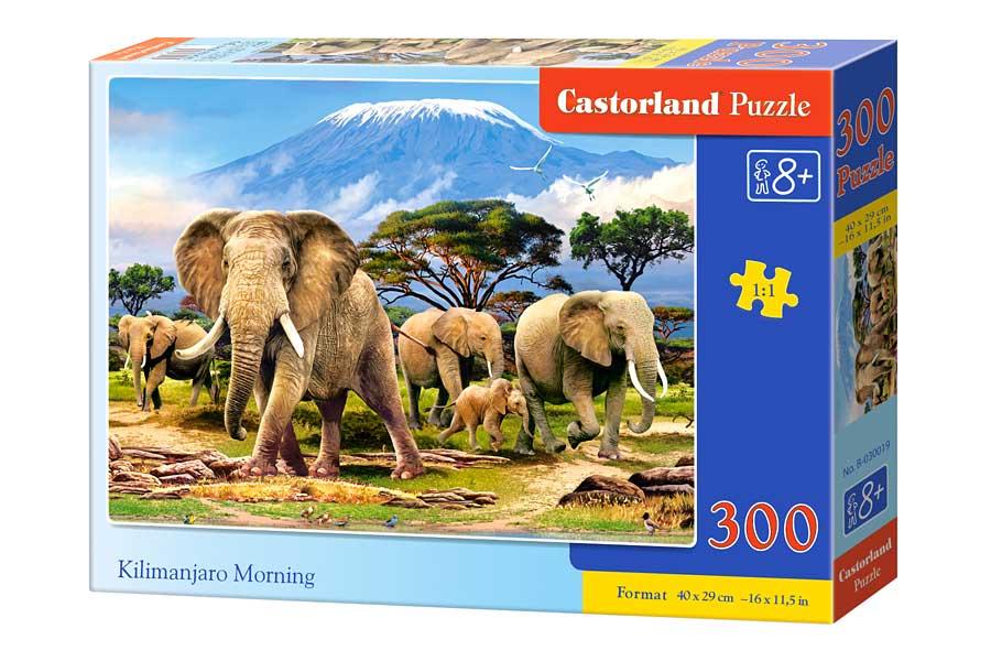 Puzzle Castorland Mañana en el Kilimajaro de 300 Piezas
