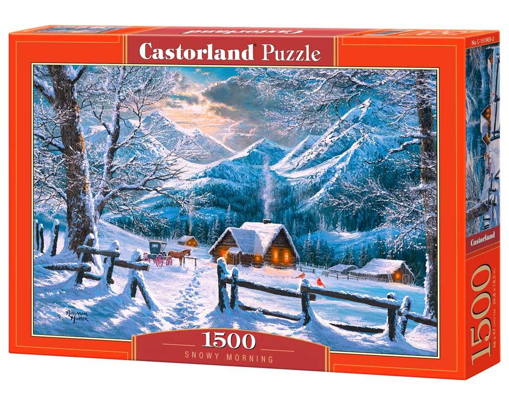 Puzzle Castorland Mañana Nevada de 1500 Piezas