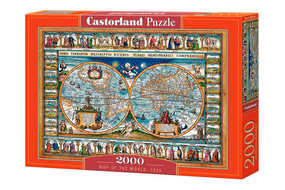 Puzzle Castorland Mapa del Mundo de 1639 de 2000 Piezas