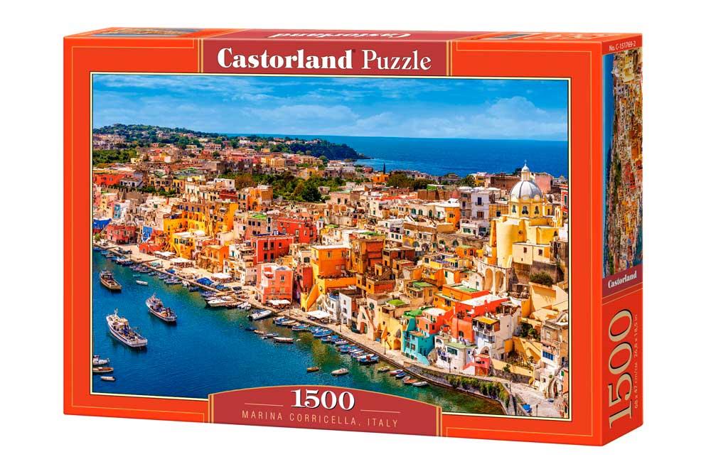 Puzzle Castorland Marina Corricella, Italia de 1500 Piezas