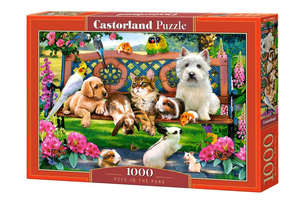 Puzzle Castorland Mascotas en el Parque de 1000 Piezas