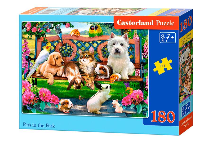 Puzzle Castorland Mascotas en el Parque de 180 Piezas