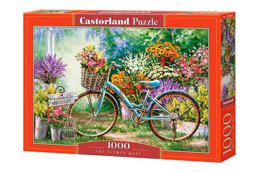 Puzzle Castorland Mercado de Flores de 1000 Piezas