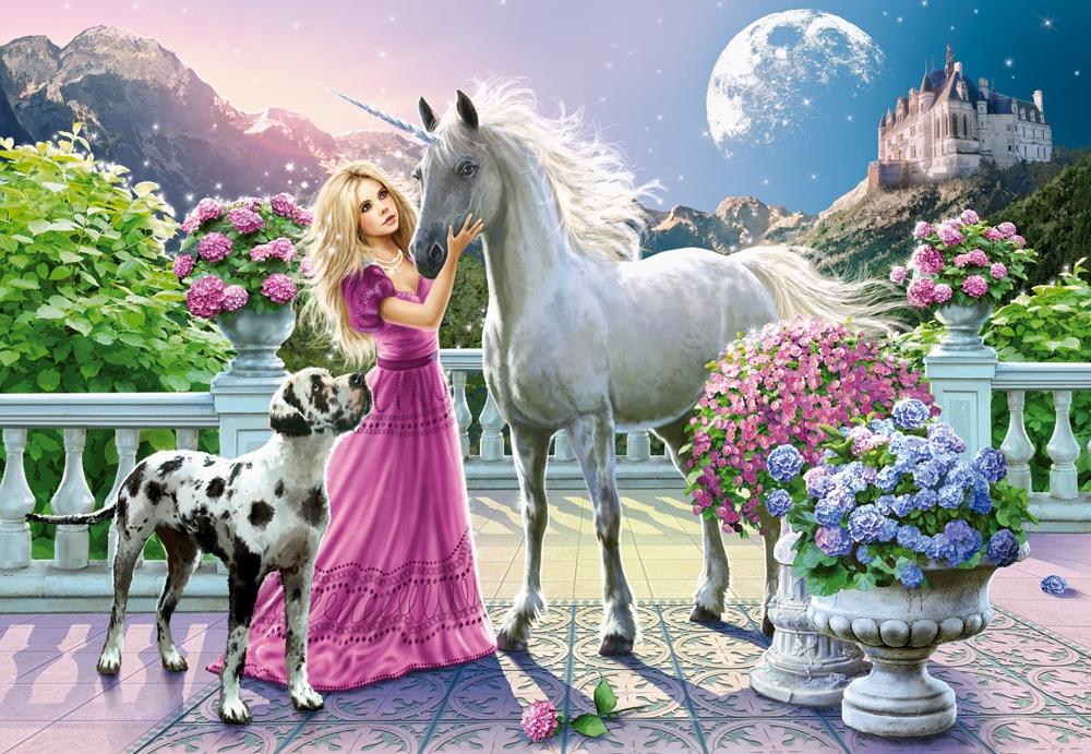 Puzzle Castorland Mi Amigo el Unicornio de 1500 Piezas
