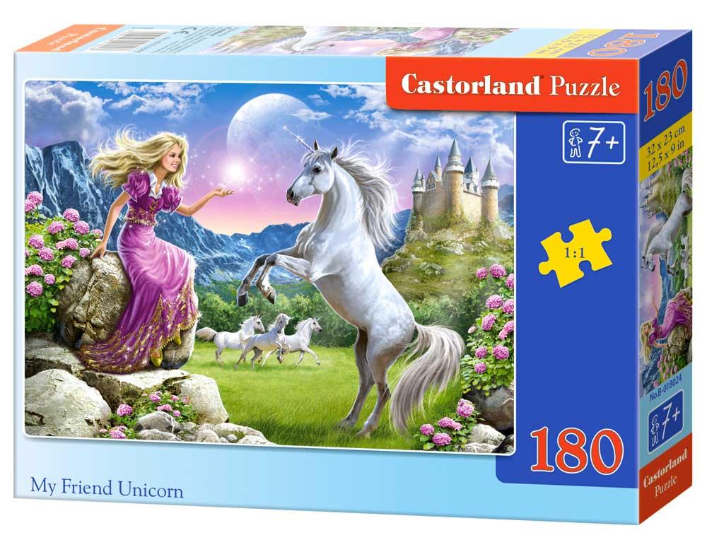 Puzzle Castorland Mi Amigo Unicornio de 180 Piezas