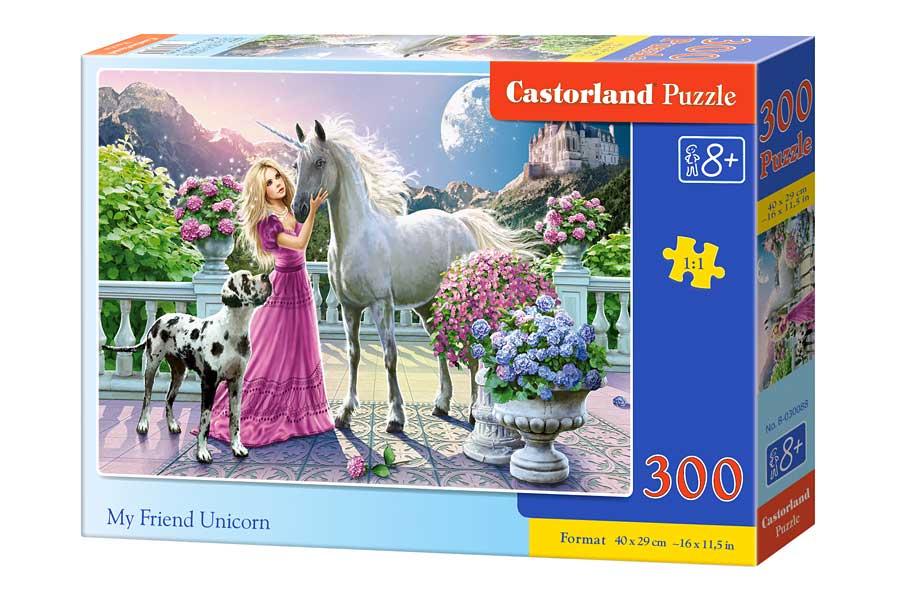 Puzzle Castorland Mi Amigo Unicornio de 300 Piezas