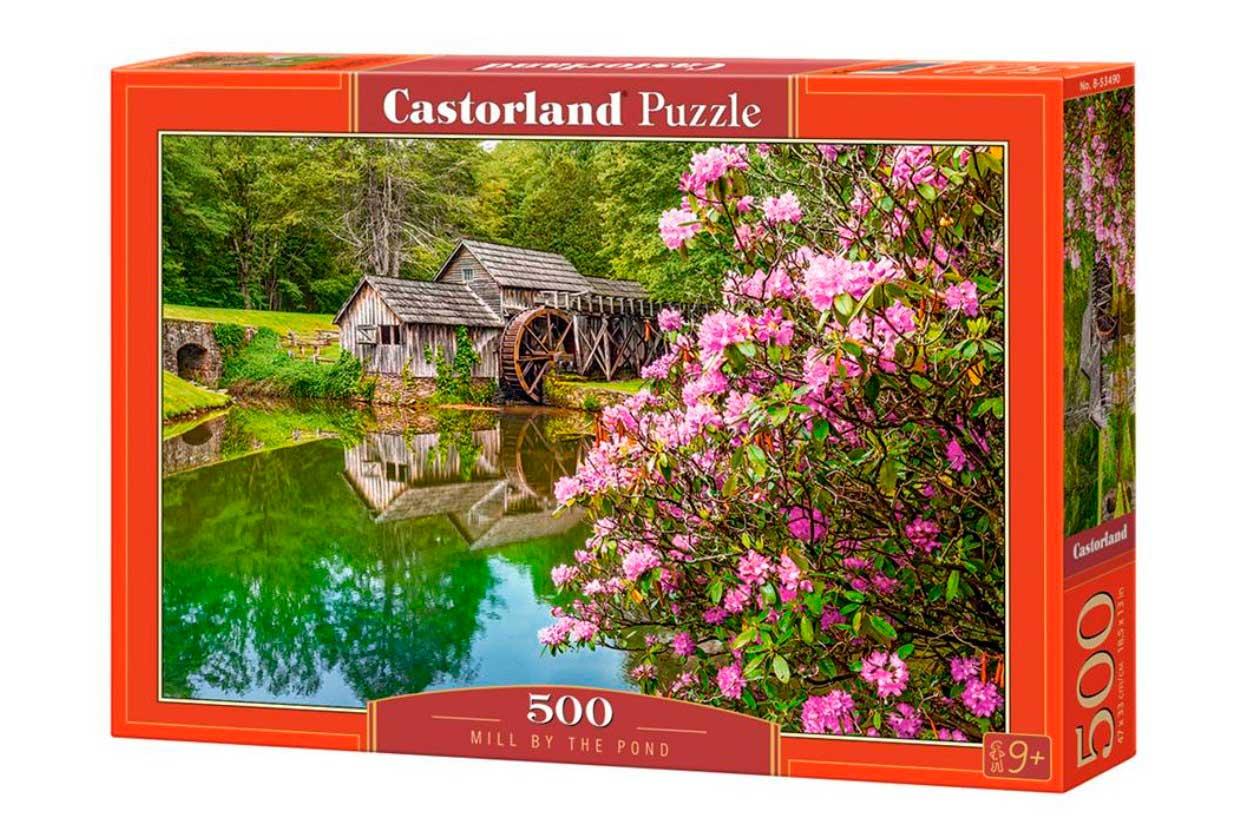 Puzzle Castorland Molino Junto al Estanque de 500 Piezas