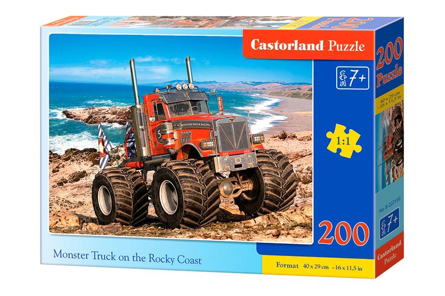 Puzzle Castorland Monster Truck en Costa Rocosa de 200 Pzs