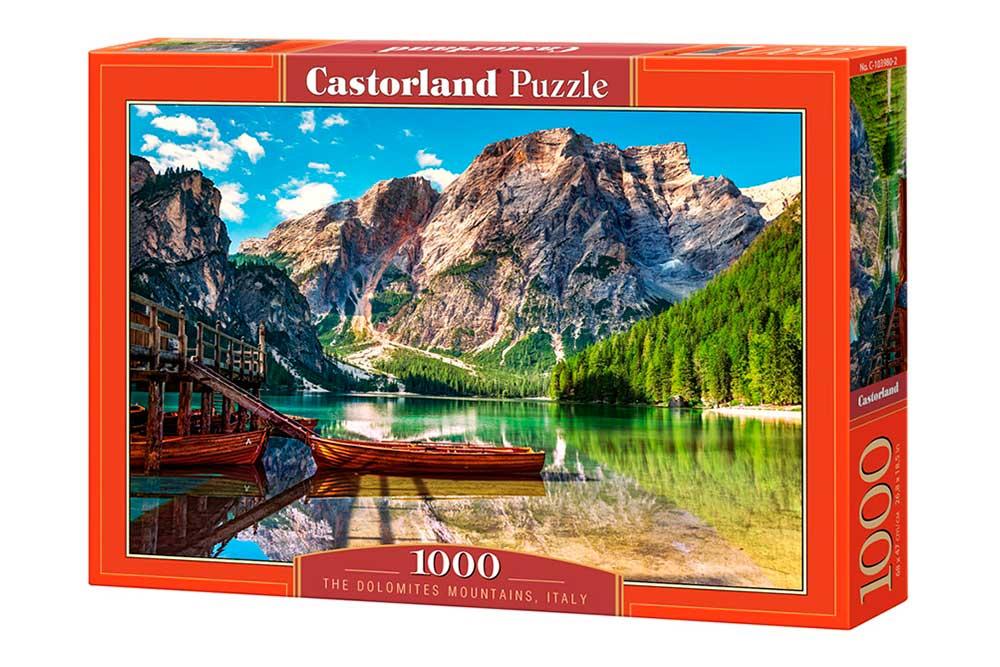 Puzzle Castorland Montañas Dolomitas, Italia de 1000 Piezas