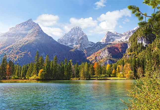 Puzzle Castorland Montañas Peaks Sobre el Lago de 1500 Piezas