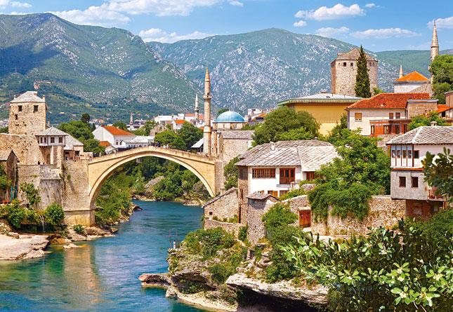 Puzzle Castorland Mostar, Bosnia y Herzegovina de 1000 Piezas