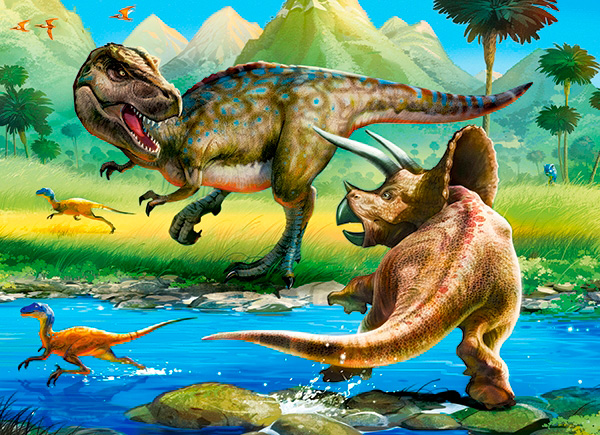 Puzzle Castorland Mundo de Dinosaurios de 70 Piezas