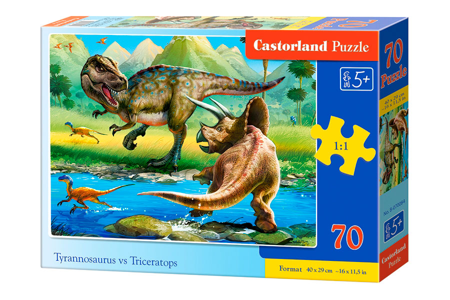 Puzzle Castorland Mundo de Dinosaurios de 100 Piezas