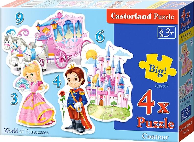 Puzzle Castorland Mundo de Principes y Princesas 3+4+6+9