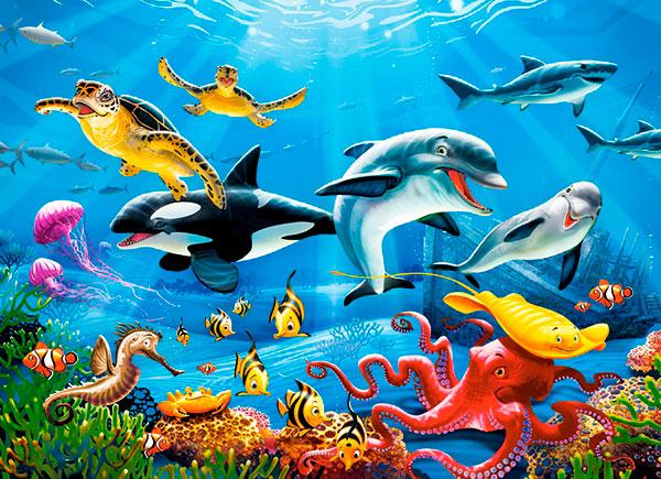 Puzzle Castorland Mundo Tropical Submarino de 200 Piezas