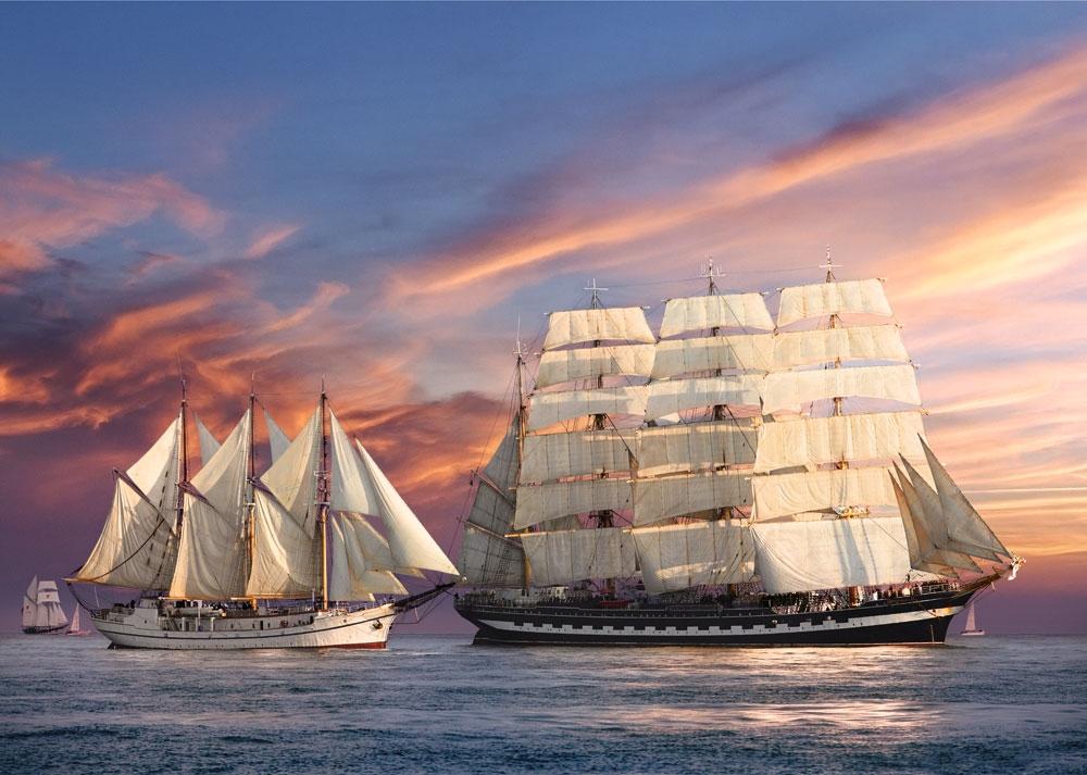Puzzle Castorland Navegando al Atardecer de 500 Piezas