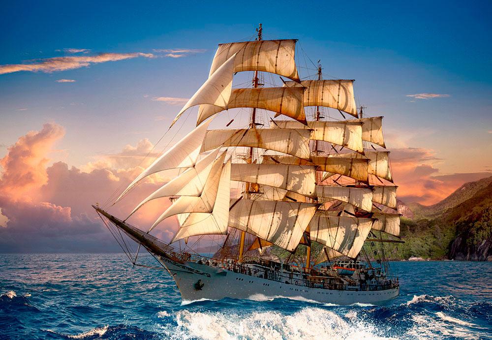 Puzzle Castorland Navegando en el Atardecer de 1500 Piezas