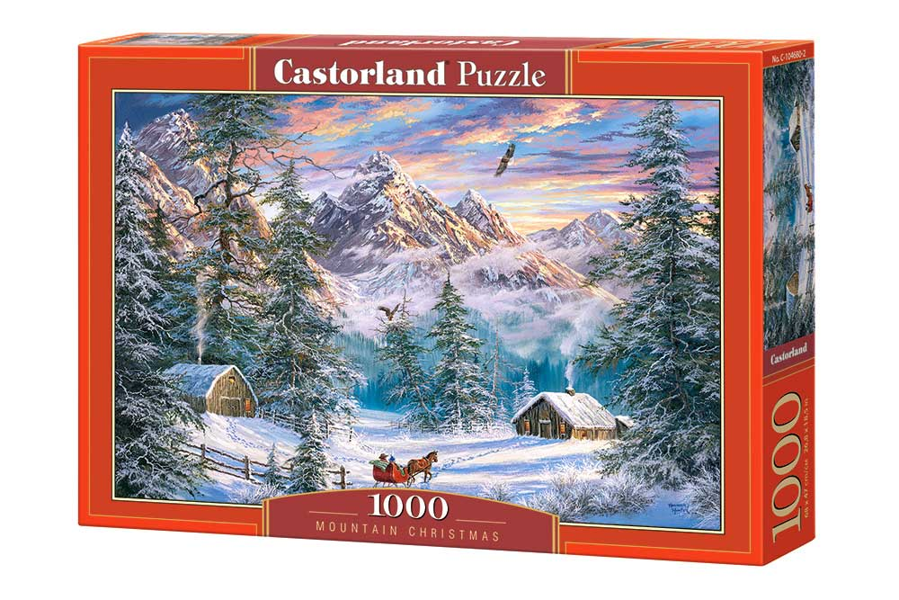 Puzzle Castorland Navidad en la Montaña de 1000 Piezas