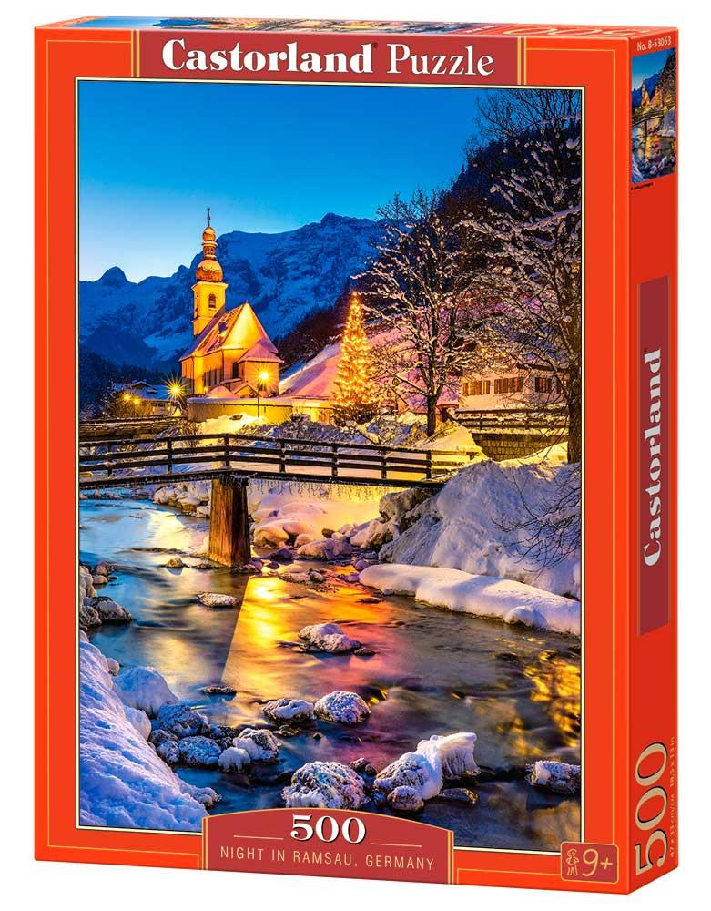 Puzzle Castorland  Noche en Ramsau, Alemania de 500 Piezas