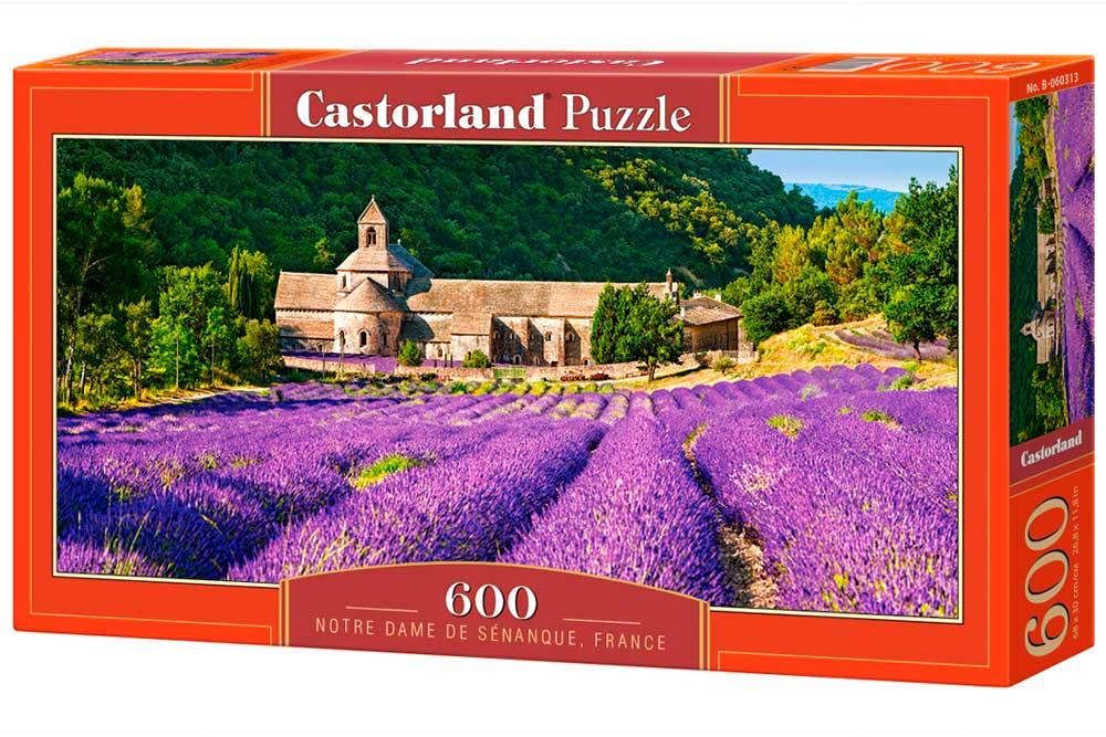 Puzzle Castorland Lavandas en Notre Dame de Senanque de 600 Pzs