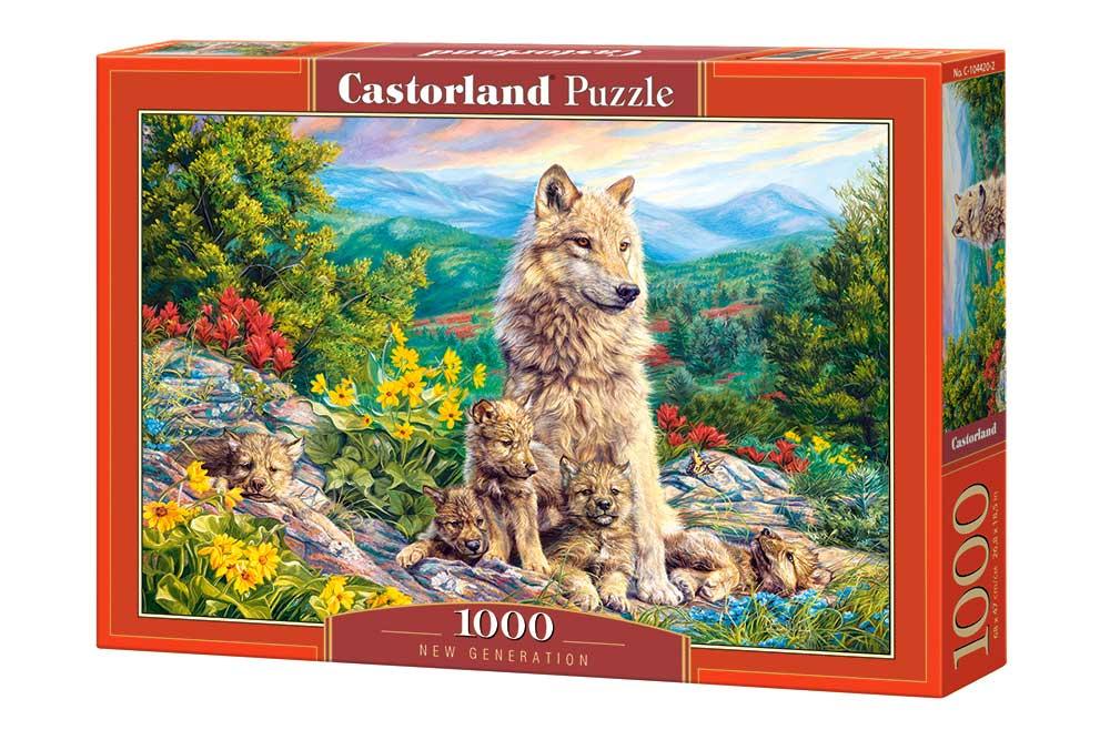 Puzzle Castorland Nueva Generación de Lobos de 1000 Piezas