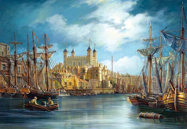 Puzzle Castorland Nuevo Día en el Puerto de 3000 Piezas