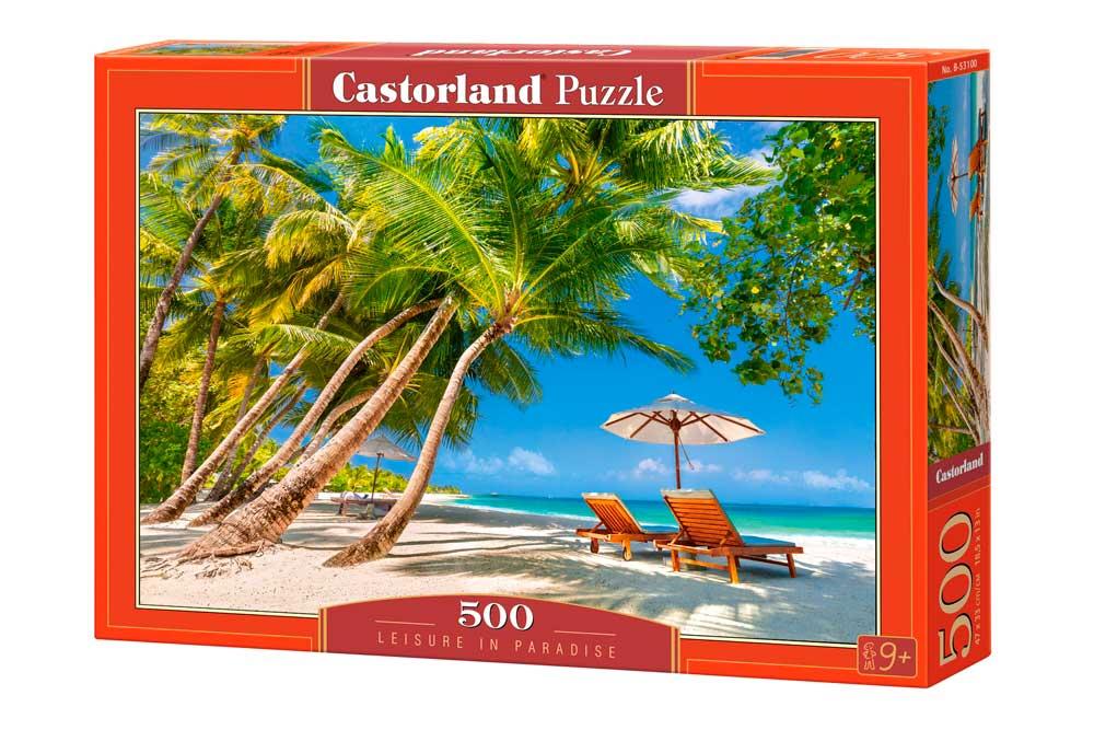 Puzzle Castorland Ocio en el Paraíso de 500 Piezas