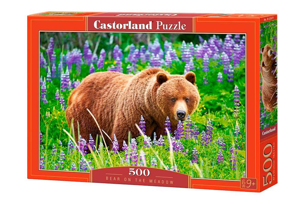 Puzzle Castorland Oso en el Prado 500 Piezas