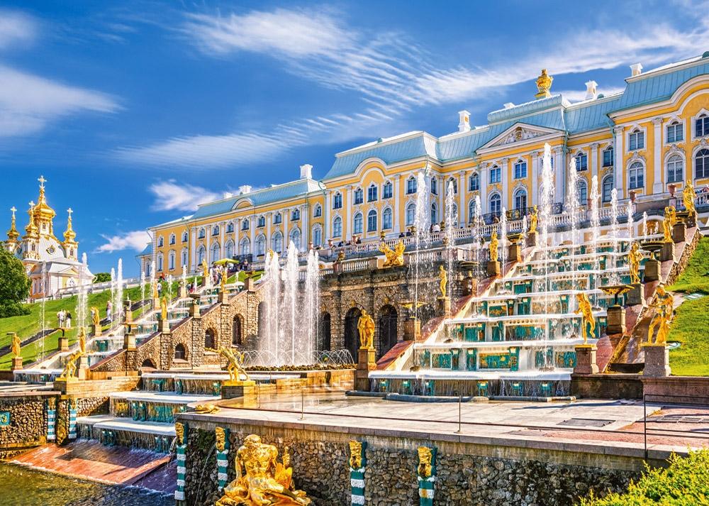 Puzzle Castorland Palacio Peterhof, San Petersburgo Rusia de 100