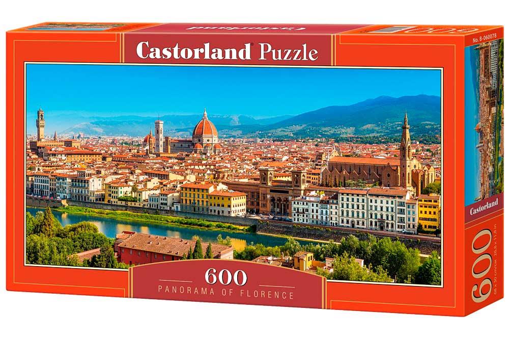 Puzzle Castorland Panorámica de Florencia de 600 Piezas