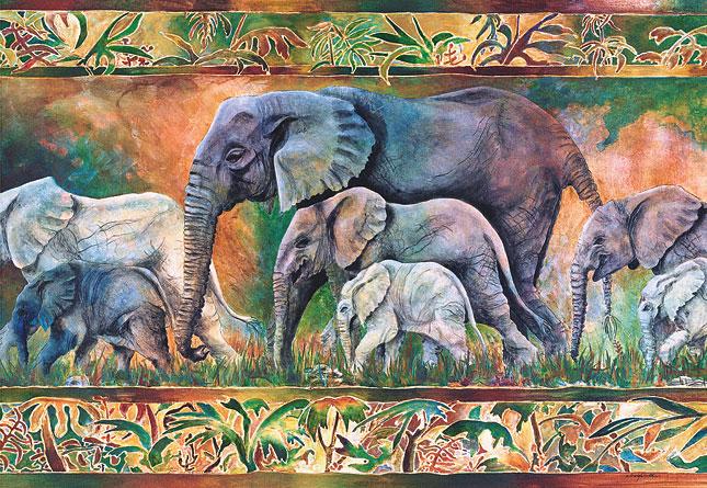 Puzzle Castorland Parada de Elefantes de 1000 Piezas