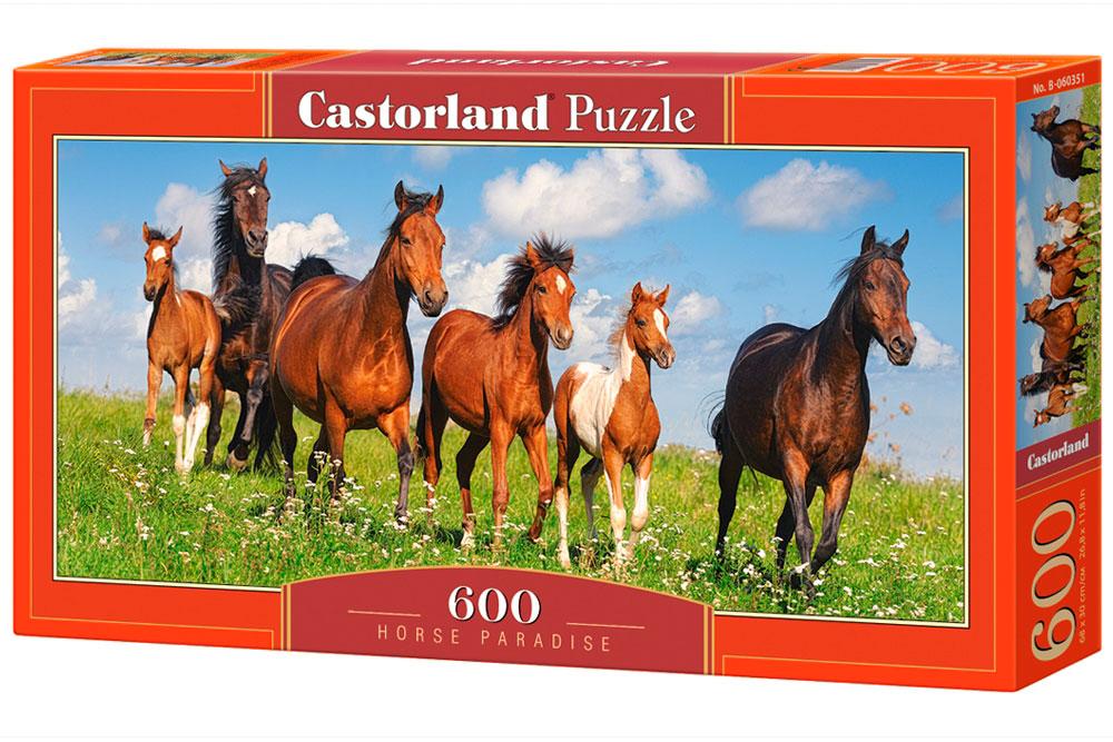 Puzzle Castorland Paraíso de los Caballos de 600 Pzs