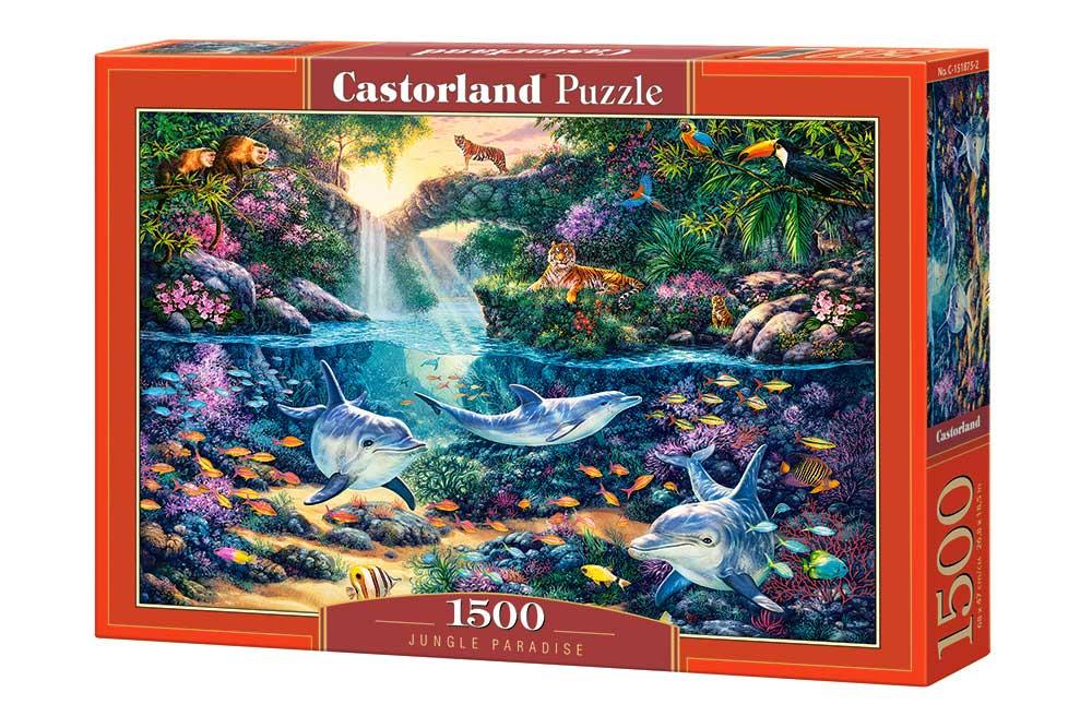 Puzzle Castorland Paraíso en la Jungla de 1500 Piezas