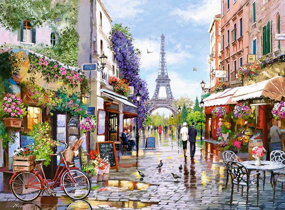 Puzzle Castorland París Florecida de 3000 Piezas